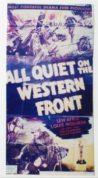ALL QUIET ON THE WESTERN FRONT ('30) linen 3sh