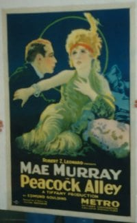 PEACOCK ALLEY ('22) pbacked 1sheet