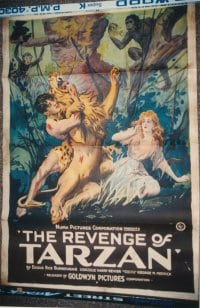 REVENGE OF TARZAN linen 1sheet