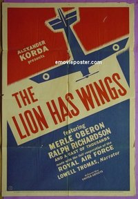 4901 LION HAS WINGS 1sh 39 RAF airplanes