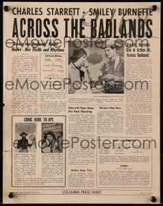 Cool Item Of the Week: Across the Badlands pressbook