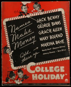 Cool Item Of the Week: College Holiday pressbook