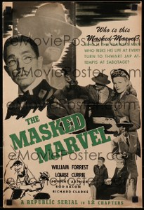 Cool Item Of the Week: The Masked Marvel pressbook