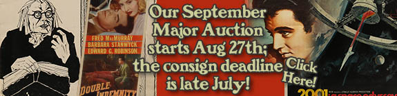 time to consign to September Major Auction