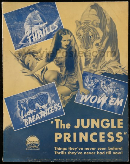 The jungle princess movie poster