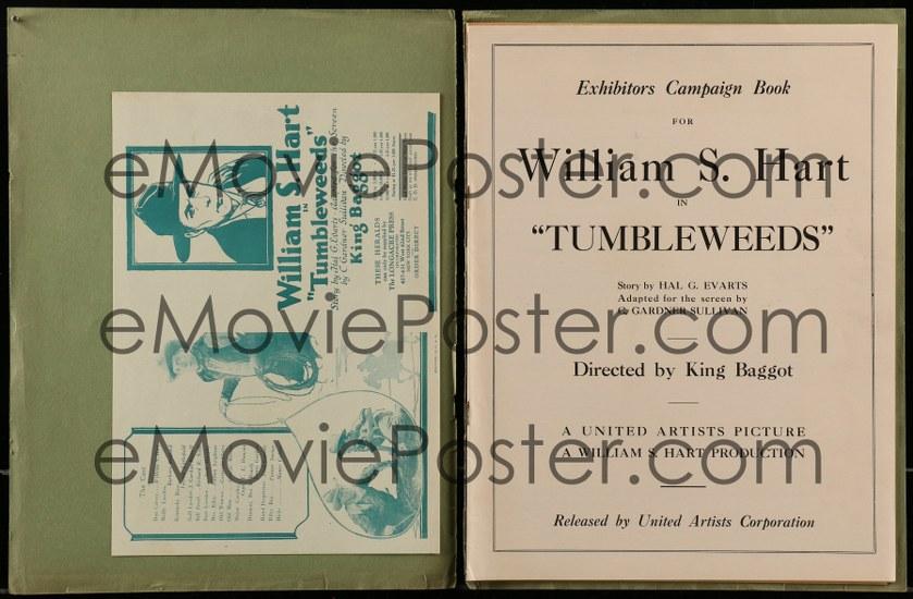 Tumbleweeds Lobby Card Movie Poster Western William S Hart