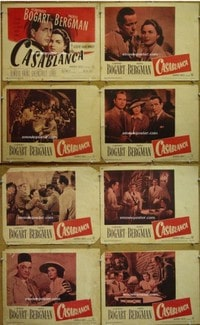 #298 CASABLANCA set of8 LCsR49 Bogart,Bergman