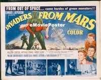 VHP7 254 INVADERS FROM MARS title lobby card '53 classic sci-fi!