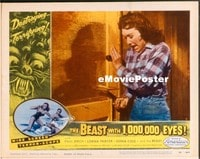 VHP7 265 BEAST WITH 1,000,000 EYES lobby card #1 '55 terrified!