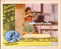 VHP7 266 BEAST WITH 1,000,000 EYES lobby card #2 '55 holding rifle!