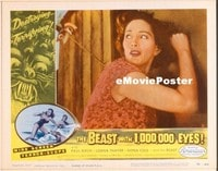 VHP7 267 BEAST WITH 1,000,000 EYES lobby card #3 '55 door knocking!