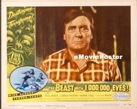 VHP7 268 BEAST WITH 1,000,000 EYES lobby card #4 '55 scared guy!