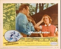 VHP7 269 BEAST WITH 1,000,000 EYES lobby card #7 '55 head in hand!
