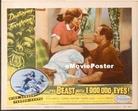 VHP7 270 BEAST WITH 1,000,000 EYES lobby card #6 '55 scared girl!