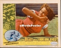VHP7 271 BEAST WITH 1,000,000 EYES lobby card #5 '55 scared closeup!