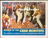 VHP7 329 ATTACK OF THE CRAB MONSTERS lobby card '57 fighting back!