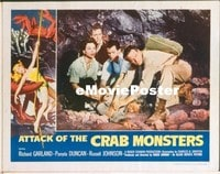 VHP7 330 ATTACK OF THE CRAB MONSTERS lobby card '57 trapped in cave!