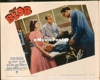 VHP7 362 BLOB lobby card #3 '58 Steve McQueen at operating table!