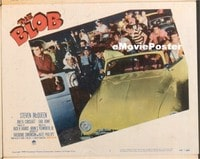 VHP7 367 BLOB lobby card #1 '58 teens in cool vintage cars!
