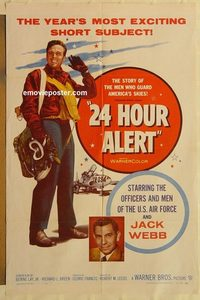1701 24 HOUR ALERT one-sheet movie poster '56 Jack Webb, U.S. Air Force!