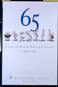 4706 film: 65 YEARS OF ANIMATION one-sheet movie poster '88 Bugs!