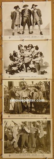 6008 ABBOTT & COSTELLO MEET CAPTAIN KIDD 4 vintage 8x10 stills '53