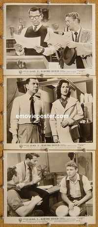 6076 -30- 3 vintage 8x10 stills '59 Jack Webb, newspapers