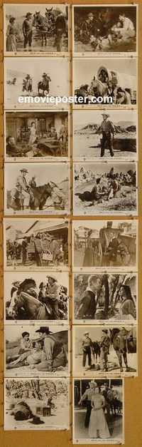 5805 7 MEN FROM NOW 16 vintage 8x10 stills '56 Randolph Scott, Russell