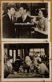 6332 THREE ON A MATCH 2 vintage 8x10 stills R60s Bogart, Bette Davis