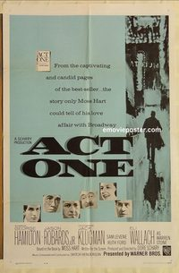 1706 ACT ONE one-sheet movie poster '64 George Hamilton, Jason Robards