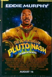 4708 ADVENTURES OF PLUTO NASH DS advance one-sheet movie poster '02 Murphy