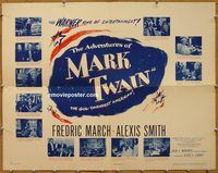 3424 ADVENTURES OF MARK TWAIN half-sheet movie poster '44 March, Smith
