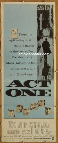 3301 ACT ONE insert movie poster '64 George Hamilton, Jason Robards
