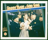 2101 20,000 YEARS IN SING SING lobby card '32 Tracy