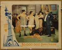 2302 50,000,000 FRENCHMEN lobby card '31 Olsen, Johnson