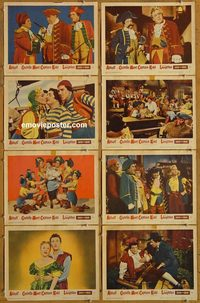 3605 ABBOTT & COSTELLO MEET CAPTAIN KIDD 8 lobby cards '53