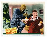 #042 ABBOTT & COSTELLO MEET FRANKENSTEIN lobby card #5 '48 wolf!!