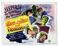 #039 ABBOTT & COSTELLO MEET FRANKENSTEIN title lobby card '48 classic!!