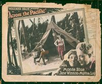 2304 ACROSS THE PACIFIC lobby card '26 Monte Blue, Myrna Loy