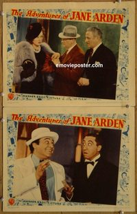 4402 ADVENTURES OF JANE ARDEN 2 lobby cards '39 Rosella Towne