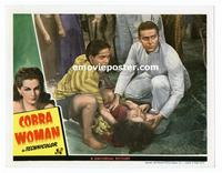 #118d COBRA WOMAN #4 lobby card '44 great kneeling image of Sabu!!