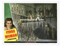 #118f COBRA WOMAN #6 lobby card '44 will Sabu be thrown on spikes?!