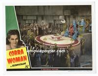 #118h COBRA WOMAN #8 lobby card '44 Maria Montez stands by altar!!