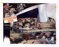 #286 DESTINATION MOON lobby card '50 space men & spaceship!!
