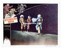 #287 DESTINATION MOON lobby card '50 astronauts spacewalking!!