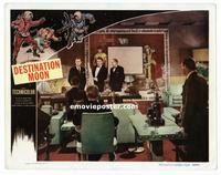 #291 DESTINATION MOON lobby card #2 '50 scientists explaining!!