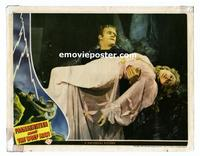 #016 FRANKENSTEIN MEETS THE WOLF MAN #2 lobby card '43 close up!!