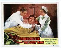 #068 FRANKENSTEIN MEETS THE WOLF MAN lobby card #3 R49 Chaney Jr!