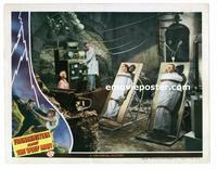 #018 FRANKENSTEIN MEETS THE WOLF MAN #4 lobby card '43 cool scene!!
