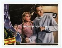#020 FRANKENSTEIN MEETS THE WOLF MAN #6 lobby card '43 Massey!